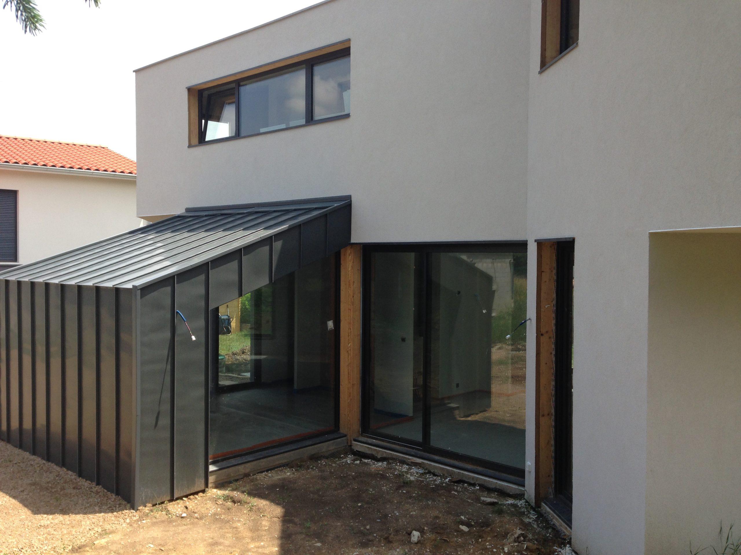 maison ossature bois 125m2 Rhône