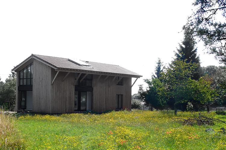maison bois type grange – Ain