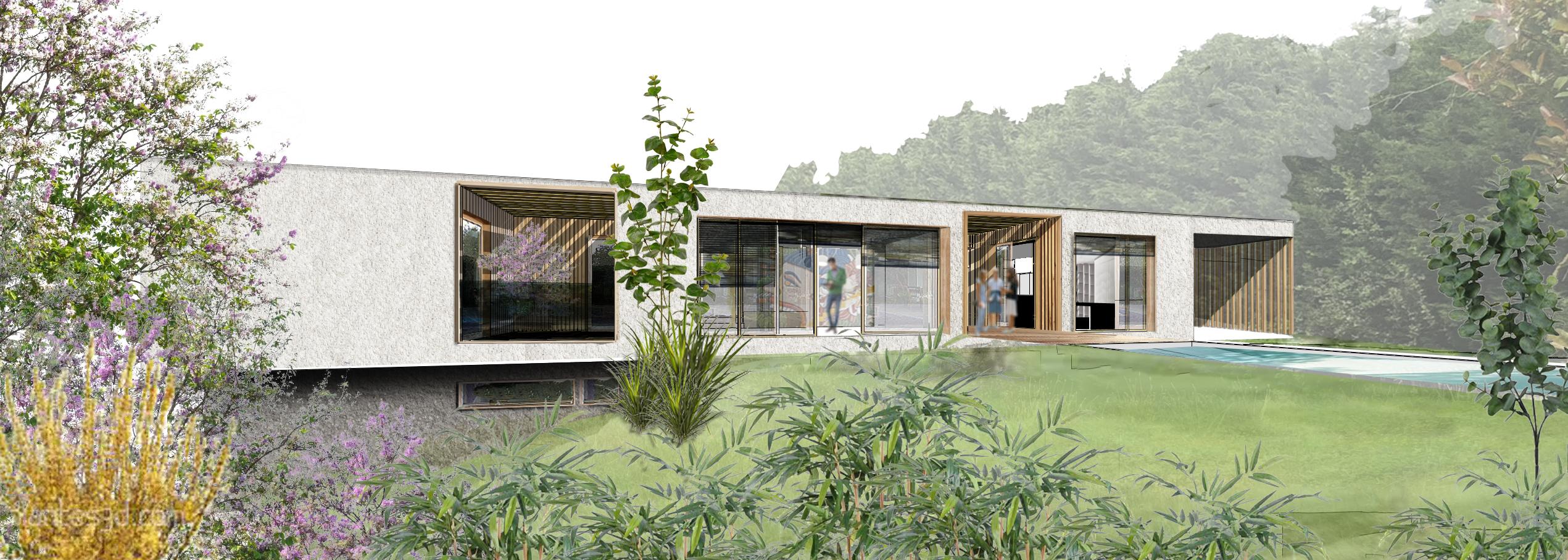 maison bois contemporaine Lyon