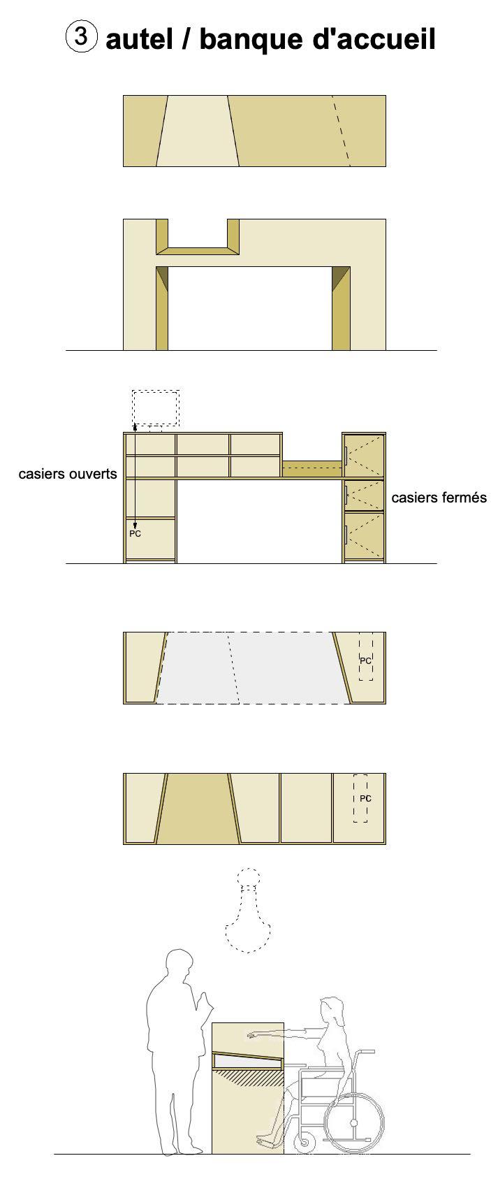 AUTEL / création mobilier Bureaux Chapelle Ecully