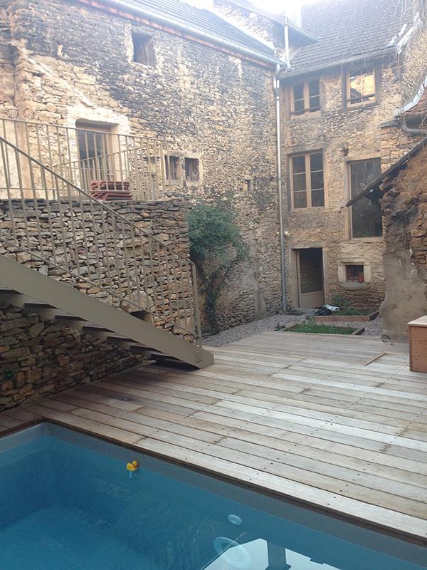 Rénovation pierre et piscine
