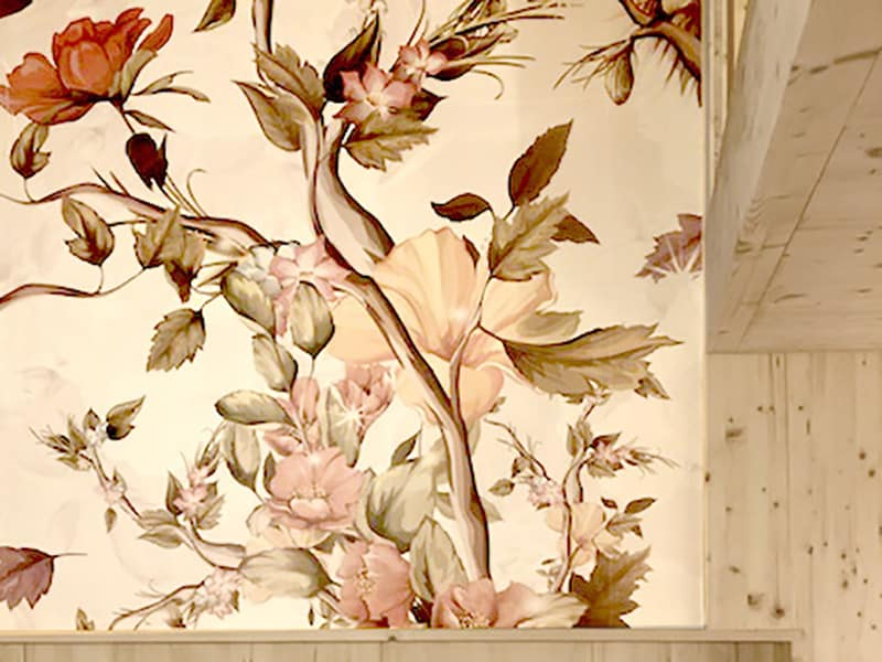 papier peint floral / cuisine Agence Et Si architectures